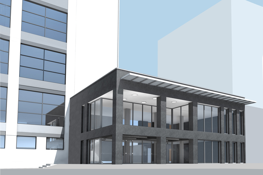 : Przebudowa hali przemysłowej na bydynek biurowo - usługowo - mieszkalny. Radom ul. Domagalskiego